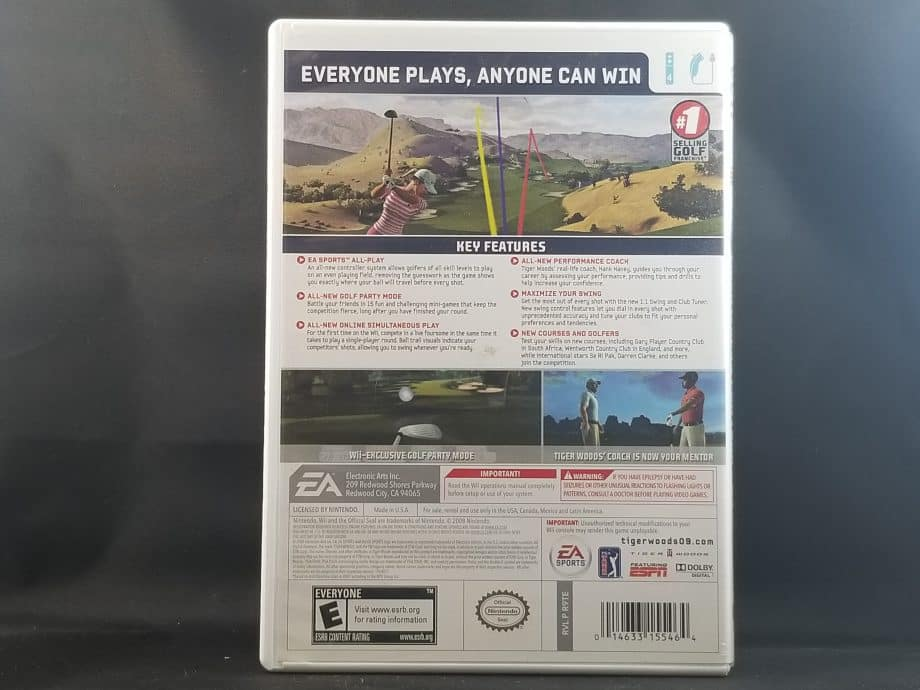 Tiger Woods PGA Tour 2009 All-Play Back