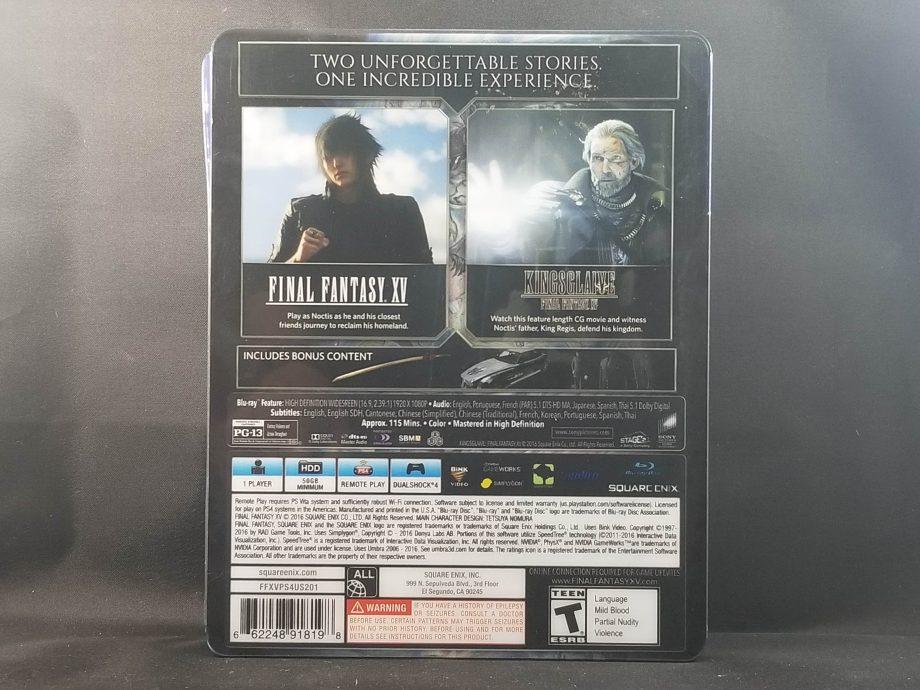 Final Fantasy XV Deluxe Edition Back