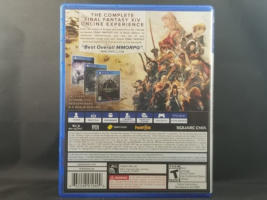 Final Fantasy XIV Online Complete Edition Back