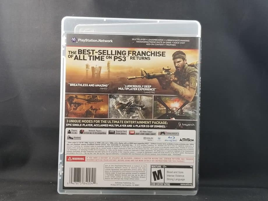 Call Of Duty Black Ops Back