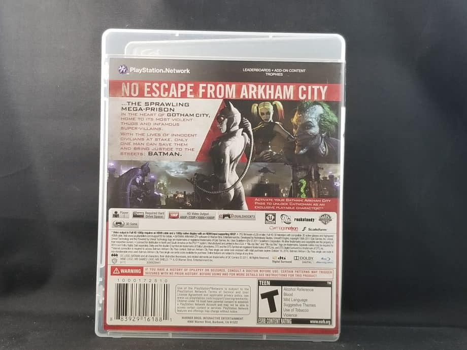 Batman Arkham City Back