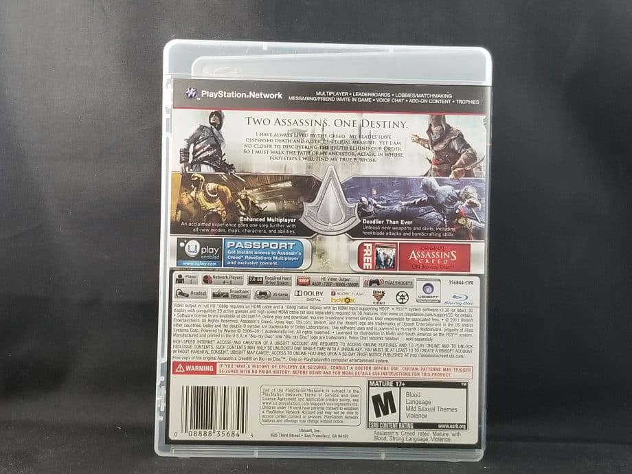 Assassin's Creed Revelations Back