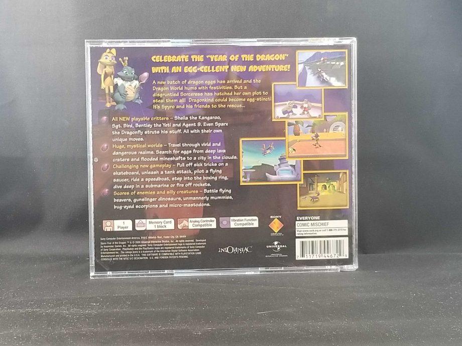 Spyro Year Of The Dragon Back