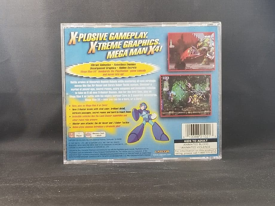 Mega Man X4 Back