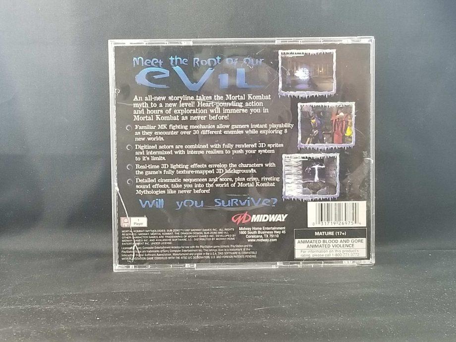 Mortal Kombat Mythologies Sub-Zero Back