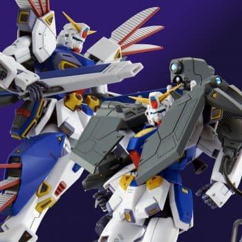 Master Grade Mission Pack R Type & V Type for Gundam F90 Pose 1