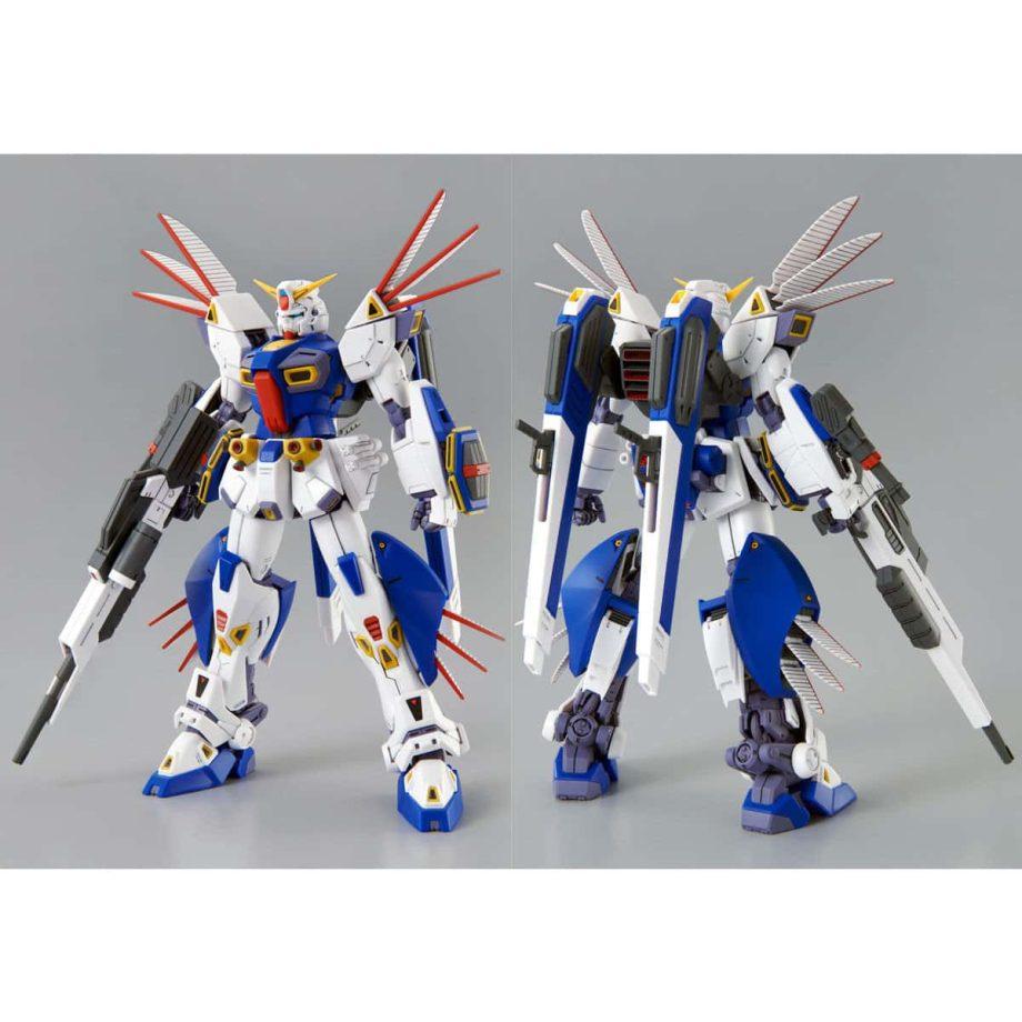 Master Grade Mission Pack R Type & V Type for Gundam F90 Pose 4