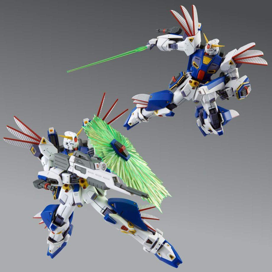 Master Grade Mission Pack R Type & V Type for Gundam F90 Pose 6