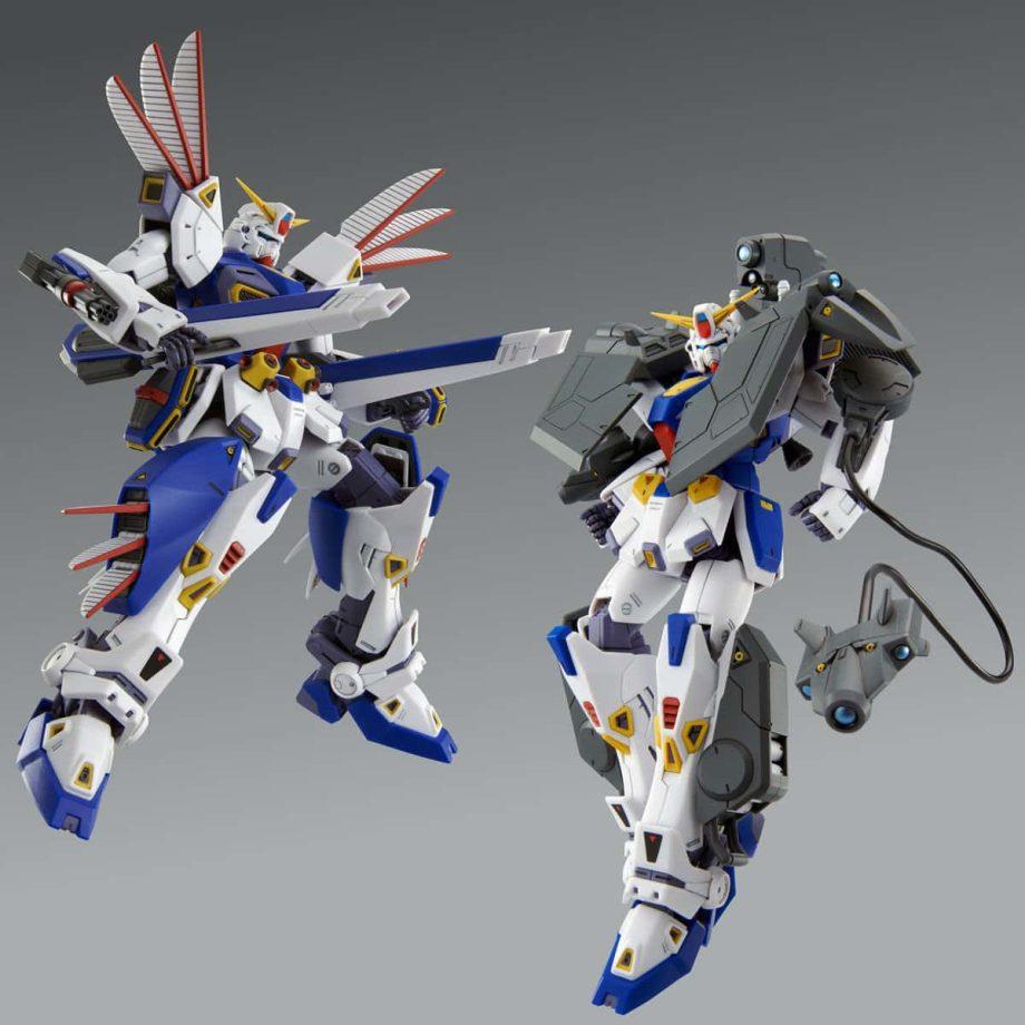 Master Grade Mission Pack R Type & V Type for Gundam F90 Pose 7