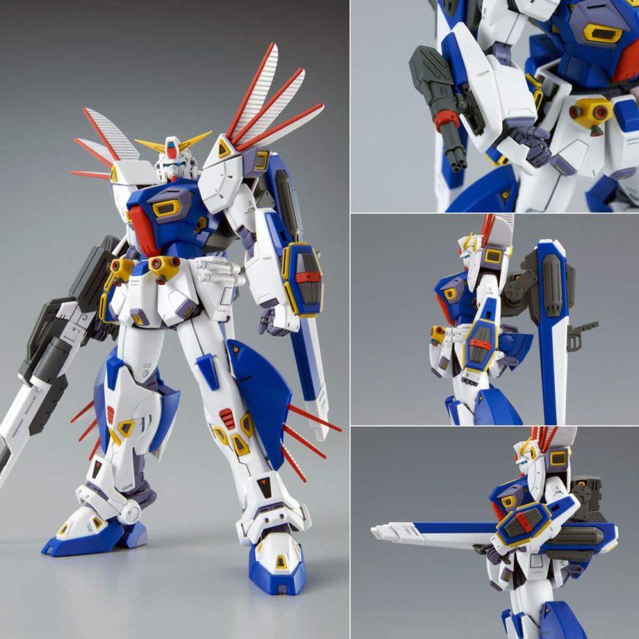Master Grade Mission Pack R Type & V Type for Gundam F90 Pose 9