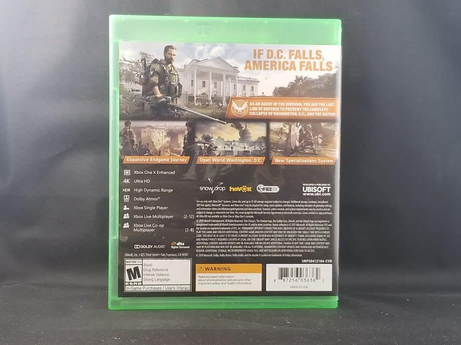Tom Clancy's The Division 2 Back