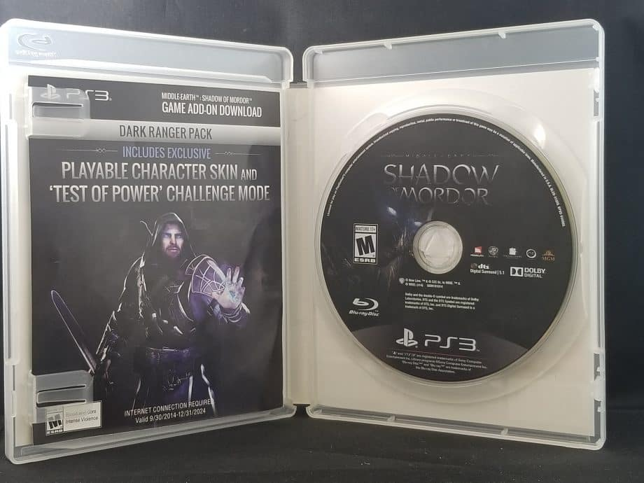 Middle Earth Shadow Of Mordor Disc