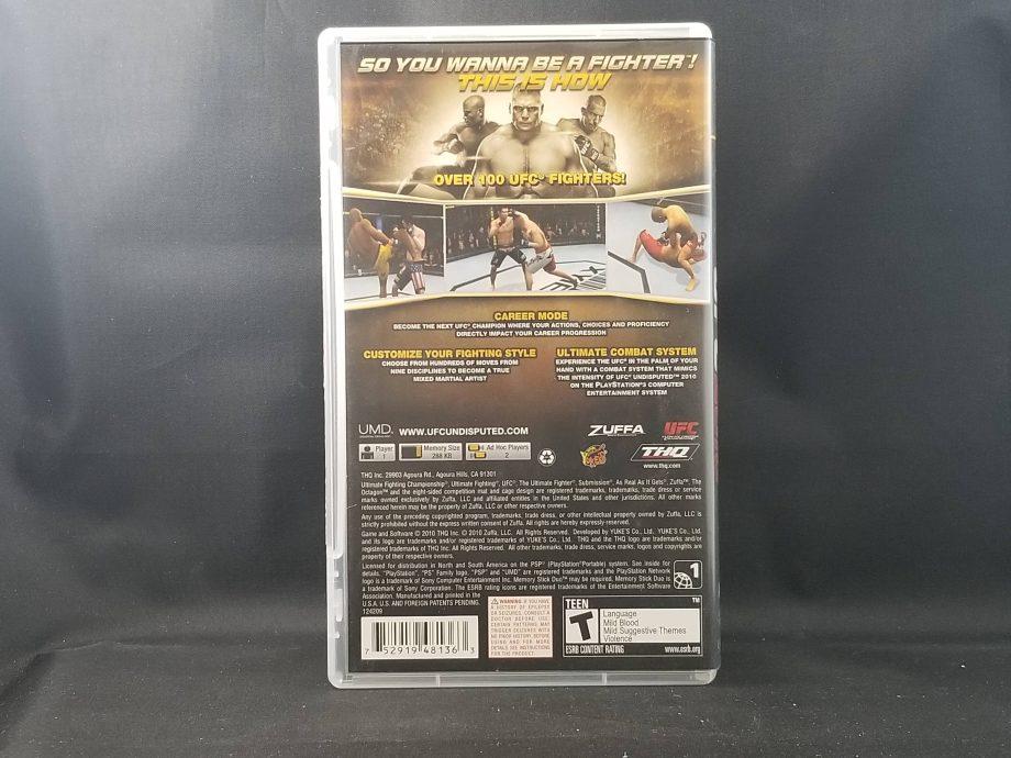 UFC Undisputed 2010 Back