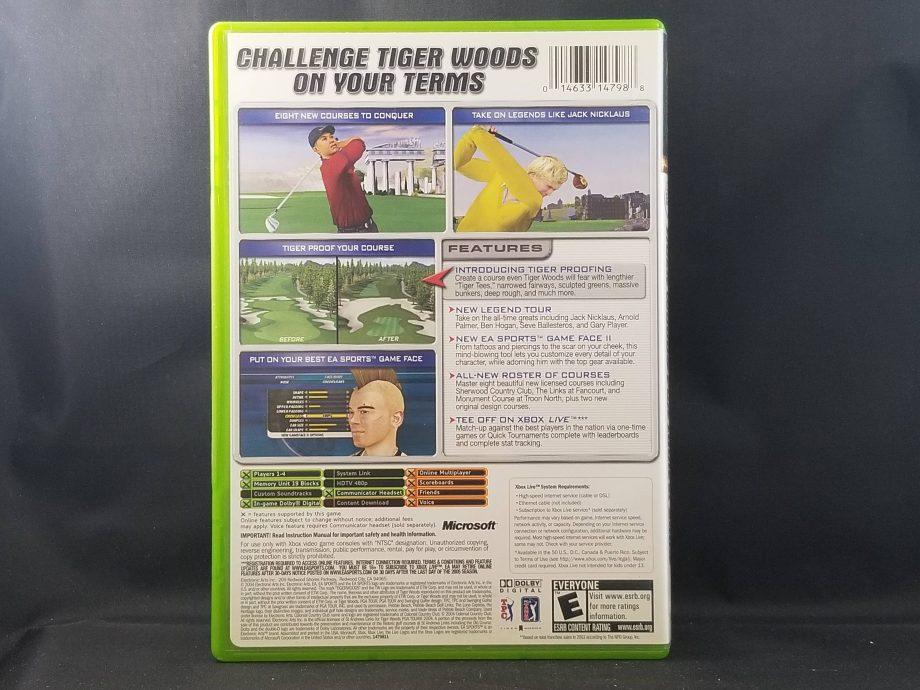 Tiger Woods PGA Tour 2005 Back