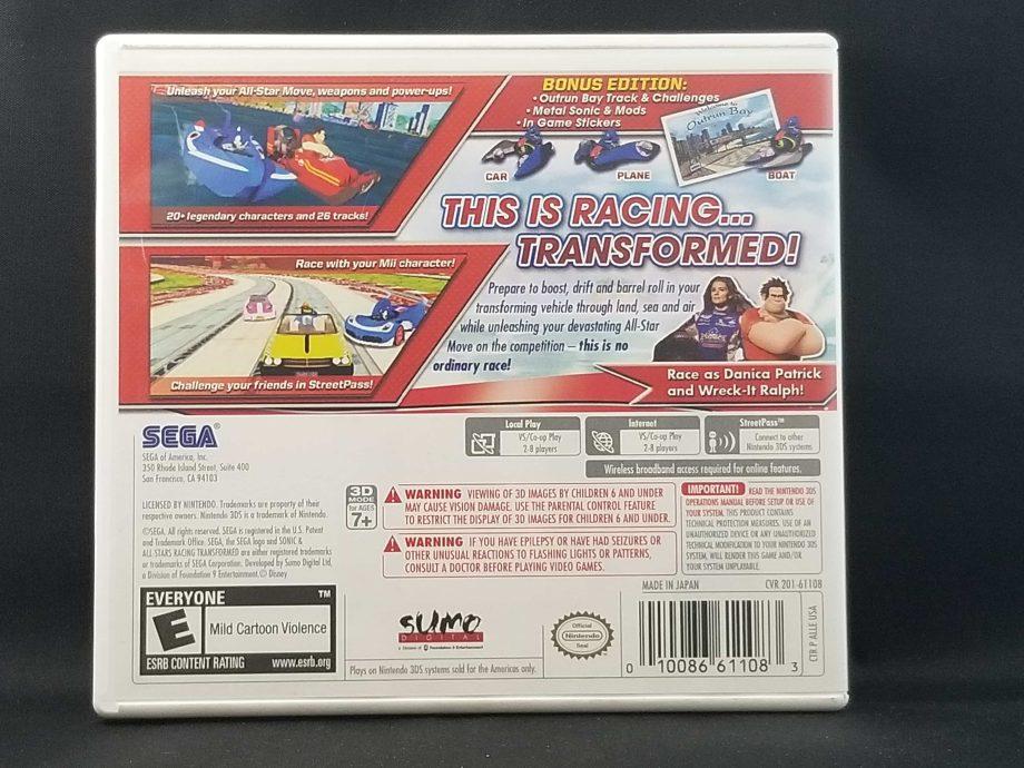 Sonic & All-Stars Racing Transformed Back